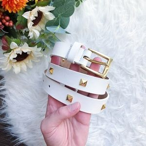VINTAGE GENUINE LEATHER STUDDED BELT